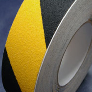 Antislip Tape Self Adhesive Safety Hazard Warning Black & Yellow 25mm x 18m