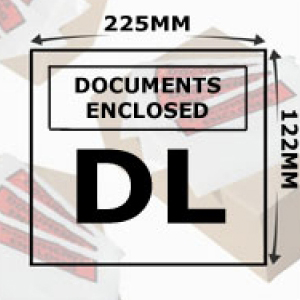 Document Enclosed Wallets DL Printed