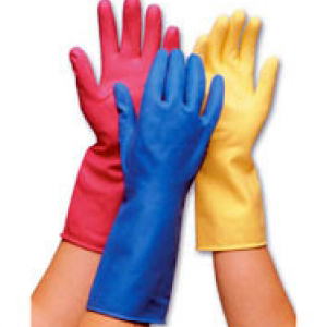 Rubber Marigold Type Gloves Blue Large (Pack of 12)
