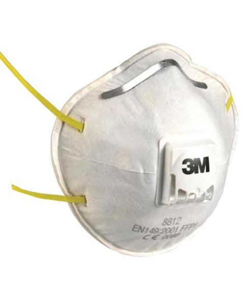 CORONAVIRUS 3M 8812 Valved Particulate Respirator FFP1 (Box of 10 Dust Masks)