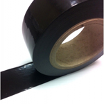 Low Tack Surface Protection Tape Plain Black 100mm x 100m