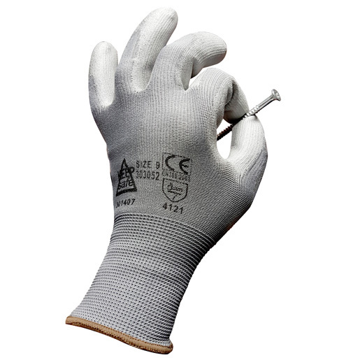 Polyester PU Coated Dexterity Gloves Size 8
