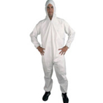 Polypropylene Coveralls White Small