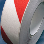 Antislip Tape Self Adhesive Safety Hazard Warning Red & White 200mm x 18m