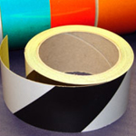 Reflective Tape Self Adhesive Black & White 25mm x 10m