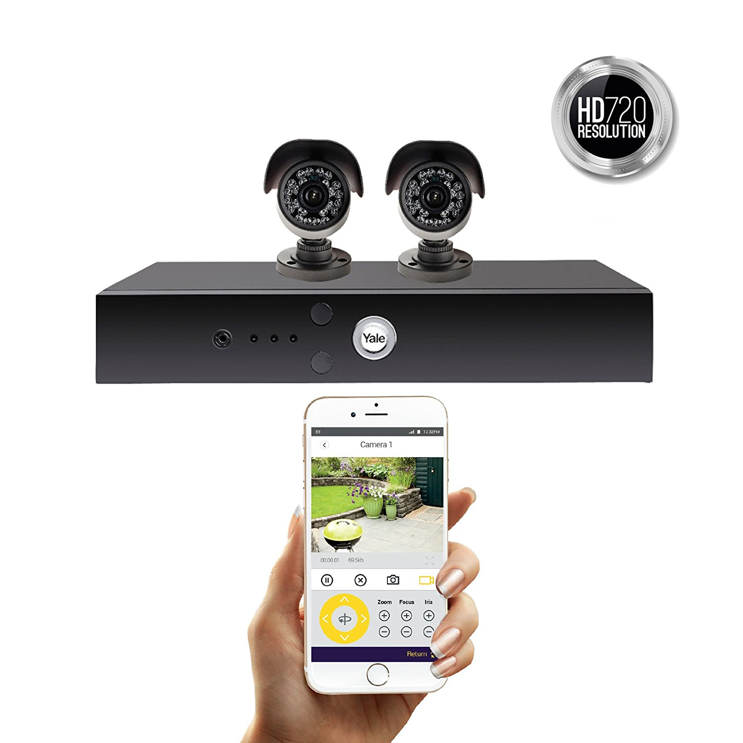 YALE 2 CAMERA PREMIUM HD KIT CCTV